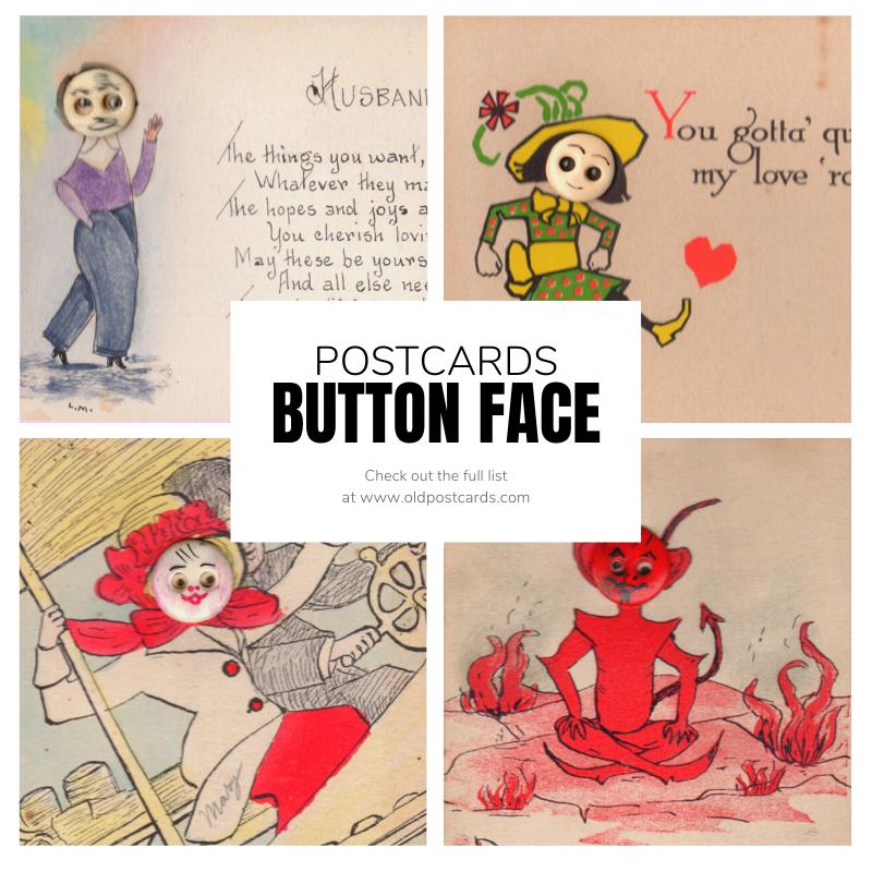 Button Face Postcards
