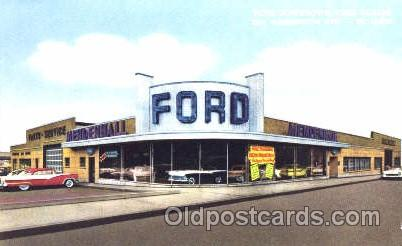 automotive postcard dealerships old vintage antique postcard postcards. Black Bedroom Furniture Sets. Home Design Ideas