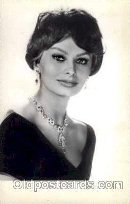 Sophia loren actress actor postcard post card old vintage antique