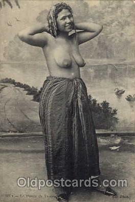 Arab Nude Postcard Mauresque Couchee Unused / HipPostcard