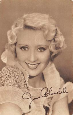 act002041 - Joan Blondell Postcard, Post Card