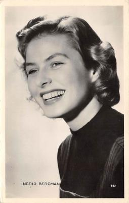 act002108 - Ingrid Bergman Postcard Post Card