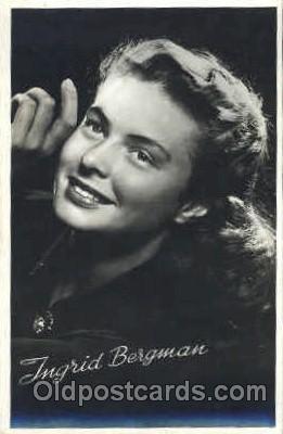act002157 - Ingrid Bergman, Actress, Movie Star, Postcard Post Card