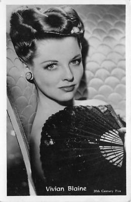 act002160 - Vivian Blaine Actress, Movie Star