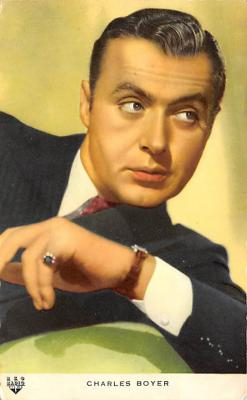 act002183 - Charles Boyer Actor, Actress, Movie Star, Postcard Post Card