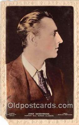 act002258 - John Barrymore Movie Actor / Actress, Entertainment Postcard Post Card