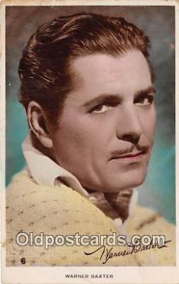 act002261 - Warner Baxter Movie Actor / Actress, Entertainment Postcard Post Card
