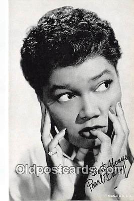 act002267 - Pearl Bailey Movie Actor / Actress, Entertainment Postcard Post Card
