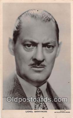 act002285 - Lionel Barrymore Movie Actor / Actress, Entertainment Postcard Post Card