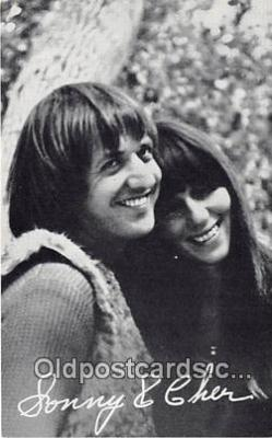 act002290 - Sonny & Cher Movie Actor / Actress, Entertainment Postcard Post Card