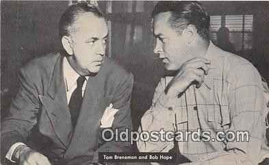 act002294 - Tom Breneman & Bob Hope Movie Actor / Actress, Entertainment Postcard Post Card