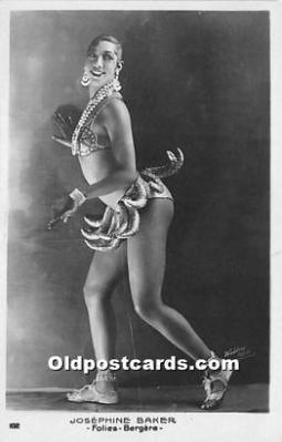 act002310 - Josephine Baker Black Entertainer Old Vintage Postcard