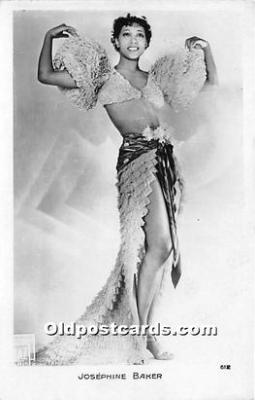 act002314 - Josephine Baker Black Entertainer Old Vintage Postcard