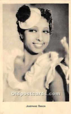 act002316 - Josephine Baker Black Entertainer Old Vintage Postcard