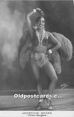 act002317 - Josephine Baker Black Entertainer Old Vintage Postcard