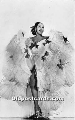 act002319 - Josephine Baker Black Entertainer Old Vintage Postcard