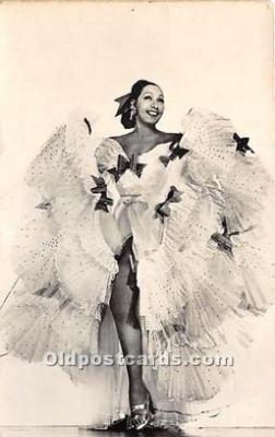 act002320 - Josephine Baker Black Entertainer Old Vintage Postcard