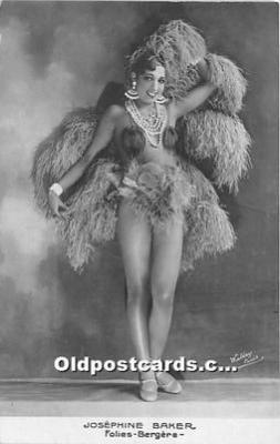 act002321 - Josephine Baker Black Entertainer Old Vintage Postcard