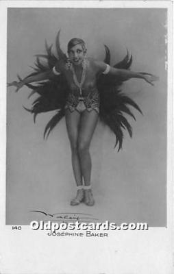 act002323 - Josephine Baker Black Entertainer Old Vintage Postcard