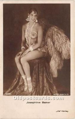 act002325 - Josephine Baker Black Entertainer Old Vintage Postcard