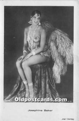 act002326 - Josephine Baker Black Entertainer Old Vintage Postcard