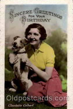 act003021 - Claudette Colbert Postcard, Post Card
