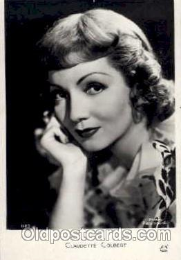 act003026 - Claudette Colbert Postcard, Post Card