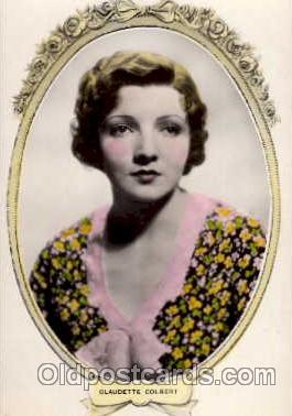 act003027 - Claudette Colbert Postcard, Post Card