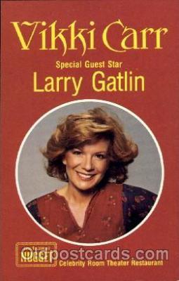 act003067 - Vickki Carr & Larry Gatlin Postcard, Post Card