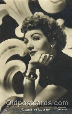 act003123 - Claudette Colbert Actor, Actress, Movie Star, Postcard Post Card