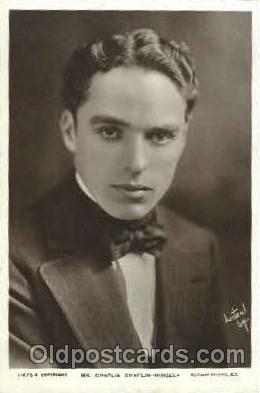 act003161 - Charlie Chaplin Actor, Actress, Movie Star, Postcard Post Card