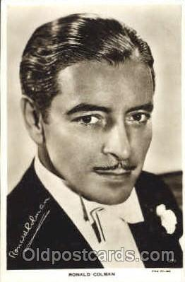 act003188 - Ronald Colman Actor, Actress, Movie Star, Postcard Post Card