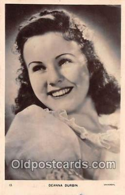 act004173 - Deanna Durbin Movie Actor / Actress, Entertainment Postcard Post Card
