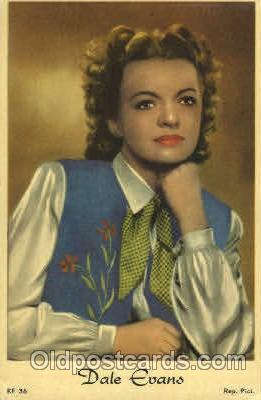 act005027 - Dale Evans Actor, Actress, Movie Star, Postcard Post Card