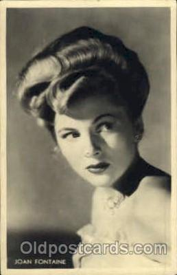 act006024 - Joan Fontaine Postcard Post Card