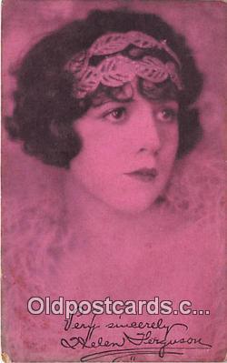 act006081 - Helen Ferguson Movie Actor / Actress, Entertainment Postcard Post Card