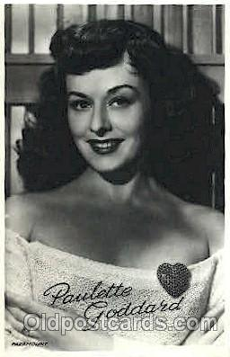 act007156 - Paulette Goddard Actor, Actress, Movie Star, Postcard Post Card
