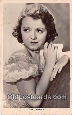 act007202 - Janet Gaynor Movie Actor / Actress, Entertainment Postcard Post Card