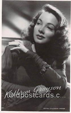 act007215 - Kathryn Grayson Movie Actor / Actress, Entertainment Postcard Post Card