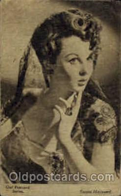 act008059 - Susan Hayward Actress/ Actor Postcard Post Card Old Vintage Antique