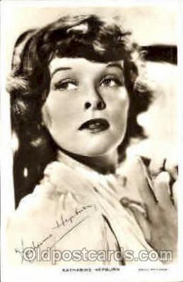 act008066 - Katharine Hepburn Actress/ Actor Postcard Post Card Old Vintage Antique