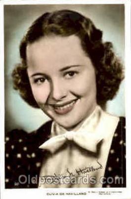 act008073 - Olivia De Havilland Actress/ Actor Postcard Post Card Old Vintage Antique