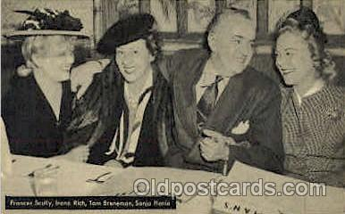 act008088 - Fances Scully, Irene Rich, Tom Breneman, Sonja Henie Postcard Post Card