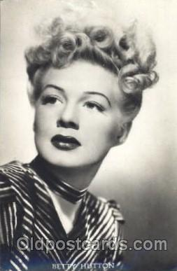 act008136 - Betty Hutton Actor, Actress, Movie Star, Postcard Post Card