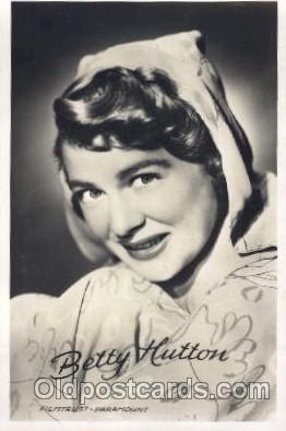 act008138 - Betty Hutton Actor, Actress, Movie Star, Postcard Post Card