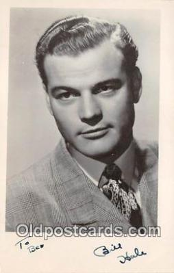 act008207 - Bill Hale Movie Actor / Actress, Entertainment Postcard Post Card