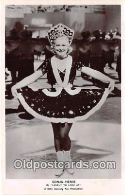 act008215 - Sonja Henie Movie Actor / Actress, Entertainment Postcard Post Card