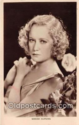 act008226 - Miriam Hopkins Movie Actor / Actress, Entertainment Postcard Post Card