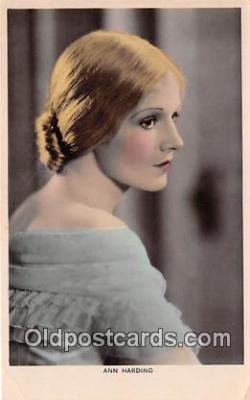 act008234 - Ann Harding Movie Actor / Actress, Entertainment Postcard Post Card