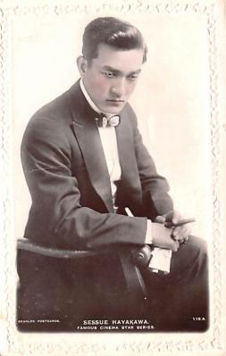 act008276 - Sessue Hayakawa Movie Star Actor Actress Film Star Postcard, Old Vintage Antique Post Card